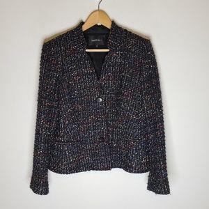 Lafayette 148 Tweed Wool Blend Blazer Size 12